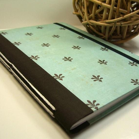 Fleur-de-Lis Handmade Lined Journal