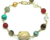 SAMPLE SALE - Gemstone Link Bracelet