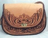 Revival Hand Tooled Leather Shoulder Bag
