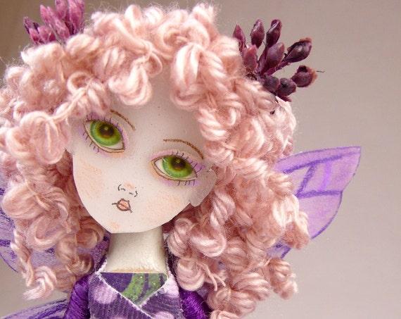 6 Fairies Handmade Clothes Pin Art Doll ooak