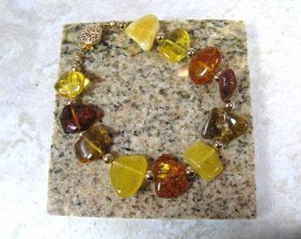 amber and gold filled sunshine bracelet
