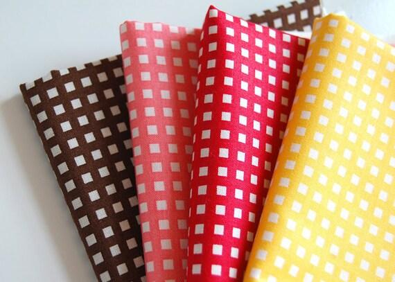 Bundle of Japanese 4 square dots FQs