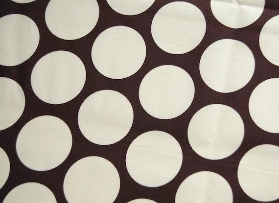 Suzuko Koseki large polka dots black fat quarter