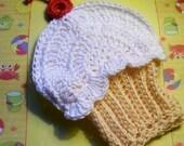 Cupcake Bath Mitt, Wash Cloth or Puppet-Crochet Pattern pdf 265