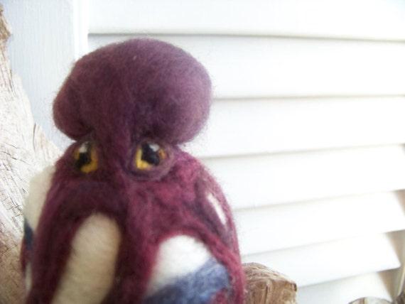 Needle Felted Octopus Sphere Purple