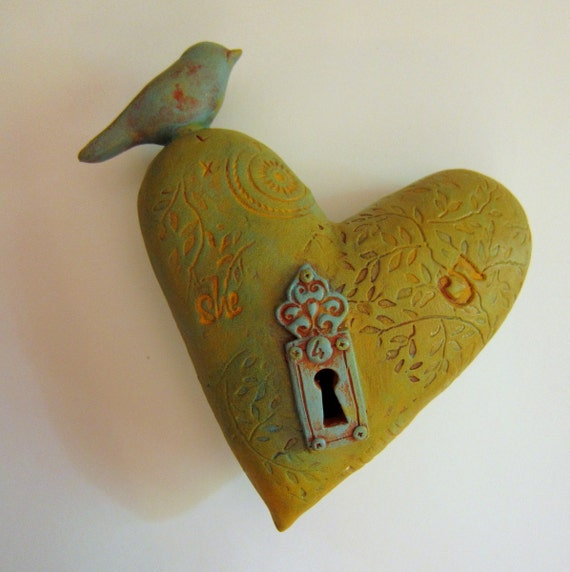 Wall Heart  with Bird
