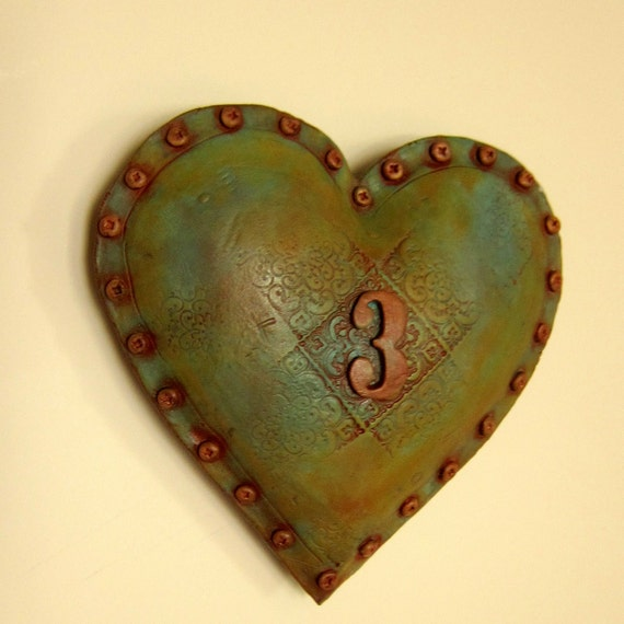 Industrial Chic Wall Heart number 3