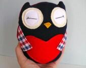 Tiny Wee Hoot Owl - Bastille - Eco Friendly Kids Plush Doll with Secret Pocket