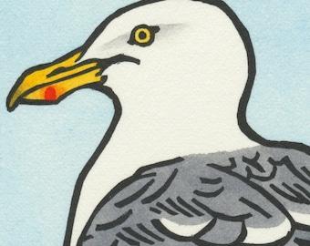 HERRING GULL blank bird greeting card