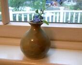 SALE -Little Green Bud Vase