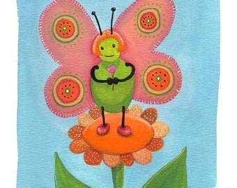 Sweet Orange Butterfly