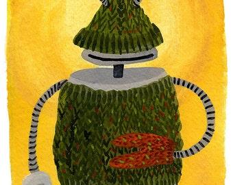 Handknit Sweater Robot