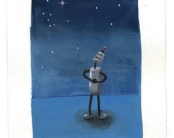 Robot Astronomer Print