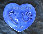 Valentine's Day Heart Hand and Footprint Garden Stepping Stone with mold kit