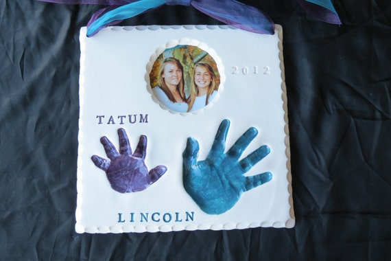 Extra Large Sibling or Double Handprint OUTPRINT 3D Frame-mold kit and shipping