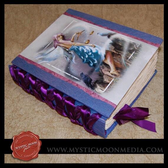 Book CLEARANCE Sale...Simmery Blues.... XL Journal... Libra... Zodiac Collection... Book of Shadows... Fairy Art
