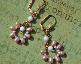 In the Pink Pearl Earrings