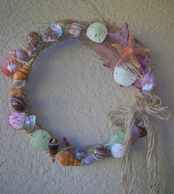 Seashell Wreath Beach Decor Grapevine Wreath By Julsofparadise