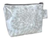 DIY Waterproof pouch/ make up purse Grey Protea