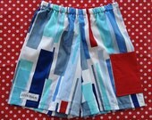 Blue shards long shorts, Sizes 3 years and 4 years