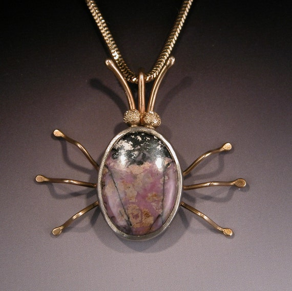 Pendant in Sterling Silver and 18 karat Gold BUGSY