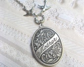 Silver Locket - Mother Locket - Necklace by BirdzNbeez