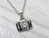 Camera Necklace - THE PHOTOGRAPHER  - Jewelry by BirdzNbeez - Wedding Birthday Bridesmaids Photographer Gift