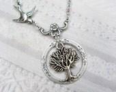 Eternity Tree of Life - Silver Tree Necklace - by BirdzNbeez - Wedding Bridesmaids Friendship Birthday