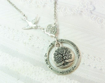Silver Tree Necklace - Tree of Life - Jewelry by BirdzNbeez