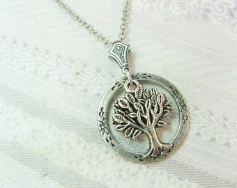 Silver Tree Necklace - Silver TREE OF LIFE - Jewelry by BirdzNbeez - Wedding Birthday Bridesmaid Gift