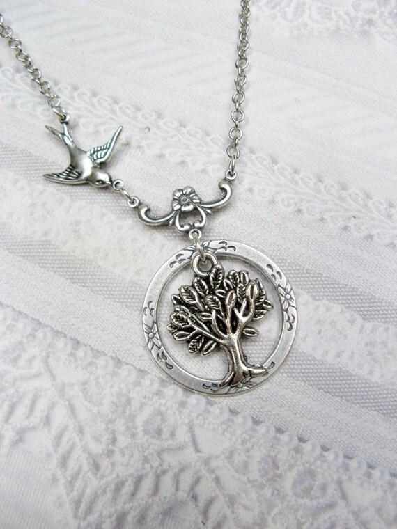 Silver Tree Necklace - Tree of Life - Jewelry by BirdzNbeez