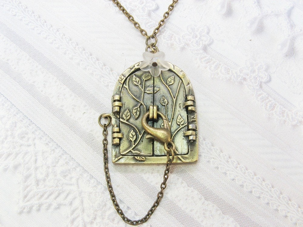 brass locket necklace blossom door locket the
