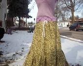 Handmade Hippie Spinny Long Batik Skirt