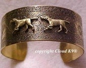 POINTER DOG Cuff BRACELET Pointer Jewelry for Dog Lovers by Cloud K9 .Vintage Style / Signed / Hunting Dogs on Point