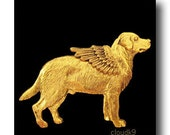 LABRADOR RETRIEVER ANGEL Pin / Yellow Lab Jewelry for Dog Lovers by Cloud K9 / Brooch for Pet Loss ... Pet Memorial