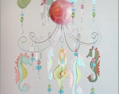 Mermaid Chandelier Mobile- Baby Mobile- Nursery Mobile