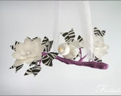 Purple and Zebra Tree Limb Mobile- Baby Mobile- Nursery Mobile