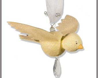 Yummy Butter Yellow Hanging Bird- baby Mobile- Nursery Mobile