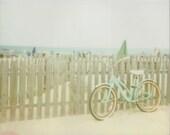Retro Beach Bicycle - 8x10 Polaroid Print - Beach Cruiser Bike - Beach House Decor - Beach Photography