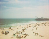 8x10 Beach Print - Retro Beach Photogrpahy - Summer, Summertime, Beach Photography, Pier, Boardwalk, Beach Decor, Art for Beach House