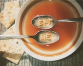 Eat Me - 8x10 Retro Polaroid Print - Fine Art Print - Soup Food Kitchen