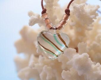 Beautiful Heart Glass Pendant