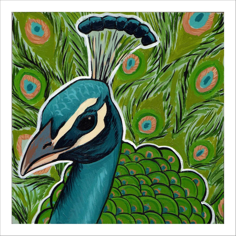 peacock acrylic paintings