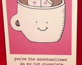 Marshmallow Love - Greeting Card