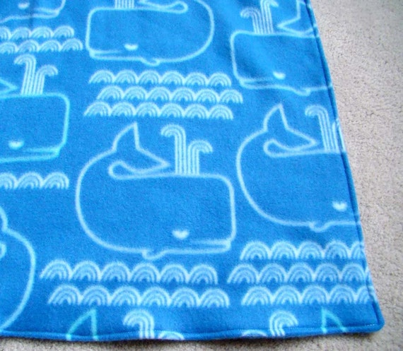 Whale Baby Blanket. Extra Warm