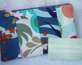 Patchwork Zipper Pouch - Flowers and Shapes