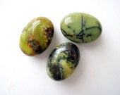 Yellow Green Turquoise Focal Beads