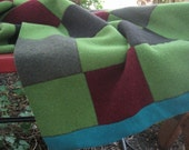 Woodland merino wool blanket -