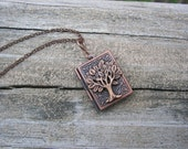 Family Tree Book of Knowledge Copper Picture Locket