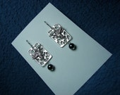 Hummingbird Rectangle Hematite Earrings Copyrighted